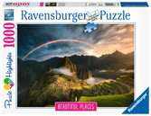 Rainbow over Machu Picchu, Peru, 1000pc Puslespil;Puslespil for voksne - Ravensburger