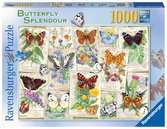 Ravensburger Butterfly Splendours 1000 piece Jigsaw Puzzle  for Adults & for Kids Age 12 and Up Puslespil;Puslespil for voksne - Ravensburger