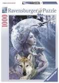 Vrouw met wolven / Entre femme et loups Puzzle;Puzzles adultes - Ravensburger