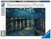 Puzzle 1000 p Art collection - La nuit étoilée sur le Rhône / Vincent Van Gogh Puzzle;Puzzle adulte - Ravensburger
