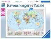 Staatkundige wereldkaart / Carte du monde politique Puzzle;Puzzles adultes - Ravensburger
