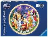 DI: ŚWIAT DISNEY 1000 OKRĄGŁE Puzzle;Puzzle dla dorosłych - Ravensburger