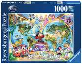 DCL:Disney World Map 1000p Puslespill;Voksenpuslespill - Ravensburger