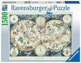World Map, 1500pc Puslespil;Puslespil for voksne - Ravensburger