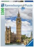 Funny cat on Big Ben Puslespill;Voksenpuslespill - Ravensburger