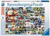 99 VW Campervan Moments, 3000pc Puslespil;Puslespil for voksne - Ravensburger