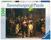 REMBRANDT:STRAŻ NOCNA 1500EL Puzzle;Puzzle dla dorosłych - Ravensburger