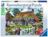 English Cottage, 1000pc Puslespil;Puslespil for voksne - Ravensburger