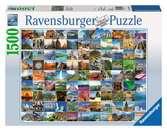Puzzle 1500 p - Les 99 plus beaux endroits du monde Puzzle;Puzzle adulte - Ravensburger