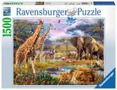 Afrique multicolore Puzzle;Puzzle adulte - Ravensburger