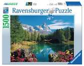GÓRSKIE JEZIORO W MATERHORN 1500EL Puzzle;Puzzle dla dorosłych - Ravensburger