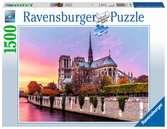 Malerisches Notre Dame Puzzle;Erwachsenenpuzzle - Ravensburger