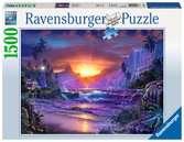 WSCHÓD SŁOŃCA W RAJU 1500 EL. Puzzle;Puzzle dla dorosłych - Ravensburger