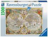 HISTORYCZNA MAPA 1594 1500EL. Puzzle;Puzzle dla dorosłych - Ravensburger