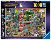 Colin Thompson - Awesome Alphabet E, 1000pc Puslespil;Puslespil for voksne - Ravensburger