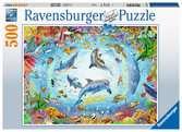 Půlnoční vlci 500 dílků 2D Puzzle;Puzzle pro dospělé - Ravensburger