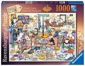 Bláznivé kočky, podzimní hostina 1000 dílků 2D Puzzle;Puzzle pro dospělé - Ravensburger