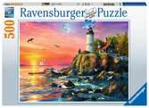 Lighthouse at Sunset      500pc Puslespil;Puslespil for voksne - Ravensburger