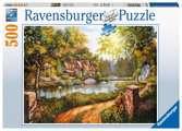 Cottage am Fluß Puzzle;Erwachsenenpuzzle - Ravensburger