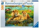 Ravensburger Lions of the Savannah 500 piece Jigsaw Puzzle for Adults & for Kids Age 10 and Up Puslespil;Puslespil for voksne - Ravensburger