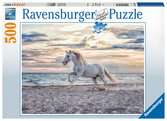 Puzzle 500 p - Cheval sur la plage Puzzle;Puzzle adulte - Ravensburger
