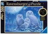 Eulen im Mondschein Puzzle;Erwachsenenpuzzle - Ravensburger