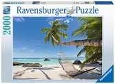 HAMAK NA PLAŻY 2000EL. Puzzle;Puzzle dla dorosłych - Ravensburger