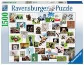Funny Animals Collage     1500p Puslespil;Puslespil for voksne - Ravensburger