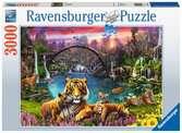 Tiger in paradiesischer Lagune Puzzle;Erwachsenenpuzzle - Ravensburger