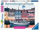 Skandinávie Kodaň, Dánsko 1000 dílků 2D Puzzle;Puzzle pro dospělé - Ravensburger