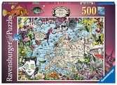 European Map,Quirky Circus500p Puslespil;Puslespil for voksne - Ravensburger