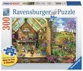 Blik in het tuinhuis / Vue sur l abri de jardin Puzzels;Puzzels voor volwassenen - Ravensburger