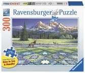 Ravensburger puzzel Quilt met hert - Legpuzzel - 300 stukjes extra groot Puzzels;Puzzels voor volwassenen - Ravensburger