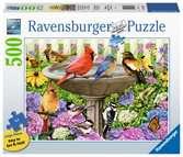 Ravensburger puzzel Bij het vogelbadje - Legpuzzel - 500 stukjes extra groot Puzzels;Puzzels voor volwassenen - Ravensburger