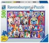 Kleurrijke honden Puzzels;Puzzels voor volwassenen - Ravensburger