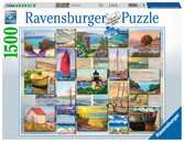 Ravensburger Coastal Collage 1500 piece Jigsaw Puzzle for Adults & for Kids Age 12 and Up Puzzles;Adult Puzzles - Ravensburger