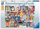 Typy tváří 500 dílků 2D Puzzle;Puzzle pro dospělé - Ravensburger