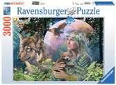 Puzzle 3000 p - Loups au clair de lune Puzzle;Puzzle adulte - Ravensburger