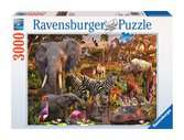 African Animal World 3000pc Puslespil;Puslespil for voksne - Ravensburger