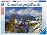 ZAMEK NEUSCHWANSTEIN ZIMĄ 3000 EL. Puzzle;Puzzle dla dorosłych - Ravensburger