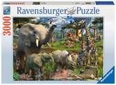 Dieren bij de drinkplaats Puzzels;Puzzels voor volwassenen - Ravensburger