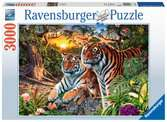 Hidden Tigers, 3000pc Puzzles;Adult Puzzles - Ravensburger