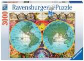 Antique Map 3000pc Puslespil;Puslespil for voksne - Ravensburger