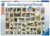 Animal Stamps, 3000pc Puzzles;Adult Puzzles - Ravensburger