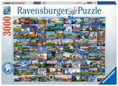 99 Beautiful Places in Europe, 3000pc Puzzles;Adult Puzzles - Ravensburger
