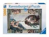 MICHAŁ ANIOŁ:STWORZENIE..-5000EL Puzzle;Puzzle dla dorosłych - Ravensburger