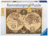 Antique World Map, 5000pc Puzzles;Adult Puzzles - Ravensburger