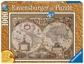 Puzzle 1000 p - Carte du monde ancienne (Traité bois) Puzzle;Puzzle adulte - Ravensburger