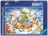 Disney Vánoce 1000 dílků 2D Puzzle;Puzzle pro dospělé - Ravensburger