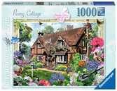 DOMEK W PIWONIACH 1000EL Puzzle;Puzzle dla dorosłych - Ravensburger